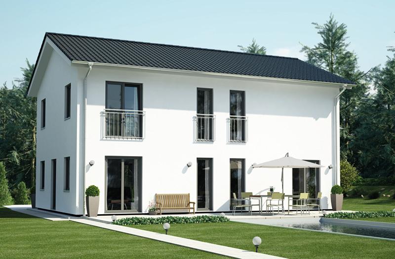 dachneigung 30 grad bilder nachteile des rendern von d huschen mit einem blauen dach. Black Bedroom Furniture Sets. Home Design Ideas